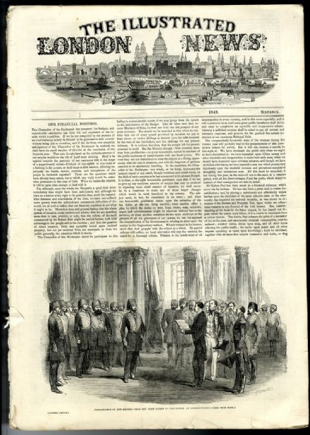 1849 ILLUSTRATED LONDON NEWS Bolsover Castle BRITANNIA BRIDGE Anglesey VICTORIAN NEWSPAPER (8730)